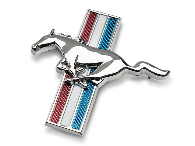 Scott Drake Tri-Bar Running Pony Emblem