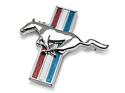 Scott Drake Tri-Bar Running Pony Emblem