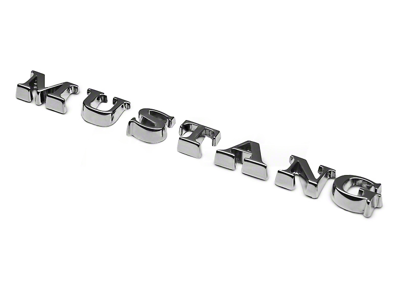 Mustang Lettering Emblem - Chrome (05-09 All)