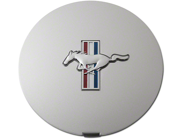 Ford Pony Wheel Center Cap; Argent Silver with Tri-Bar Pony (90-93 All)