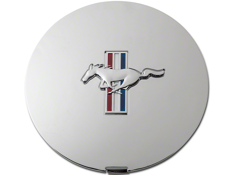 Pony Wheel Center Cap - Chrome w/ Tri-Bar Pony (90-93 All)