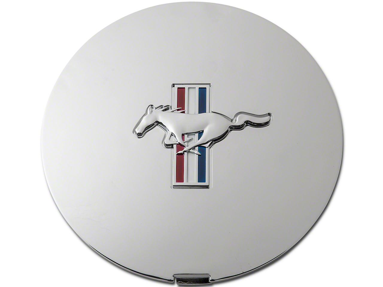Pony Wheel Center Cap - Chrome w/ Tri-Bar Pony (90-93 All)