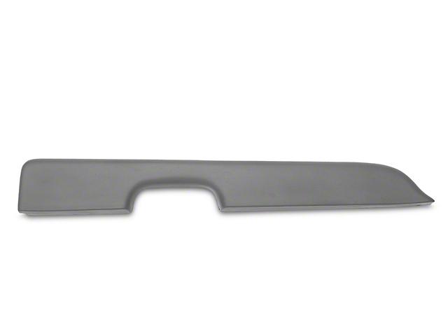 OPR Door Armrest Pad for Left Power Window; Dark Gray (87-93 All)