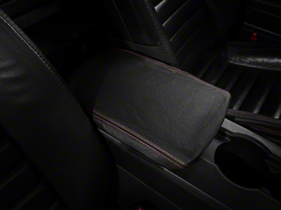 Alterum Premium Black Leather Arm Rest Cover - Red Stitch (05-09 All)
