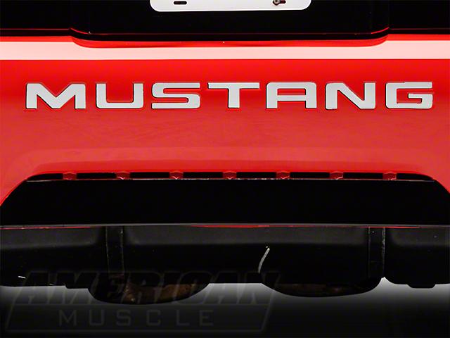 Modern Billet Stainless Steel Bumper Insert Letters (99-04 GT, V6, Mach 1; 1999 Cobra)