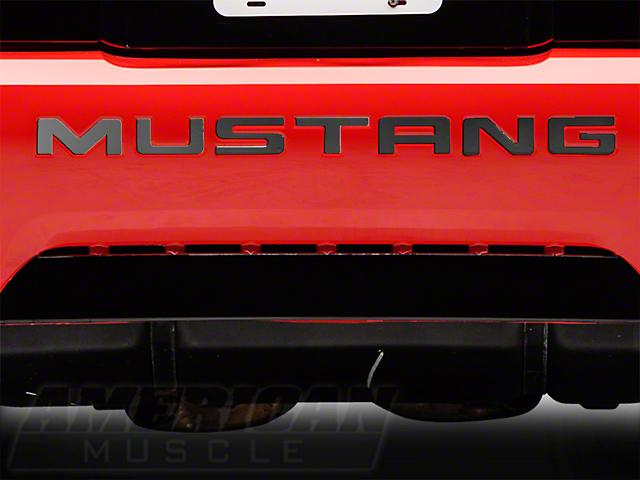 Modern Billet Black Chrome Bumper Insert Letters (99-04 GT, V6, Mach 1; 1999 Cobra)