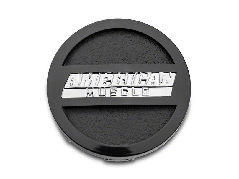 Black AmericanMuscle Center Cap; Large