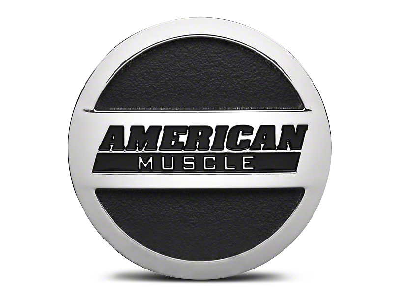 Chrome AmericanMuscle Center Cap; Large