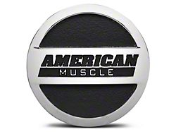 Chrome AmericanMuscle Center Cap - Large