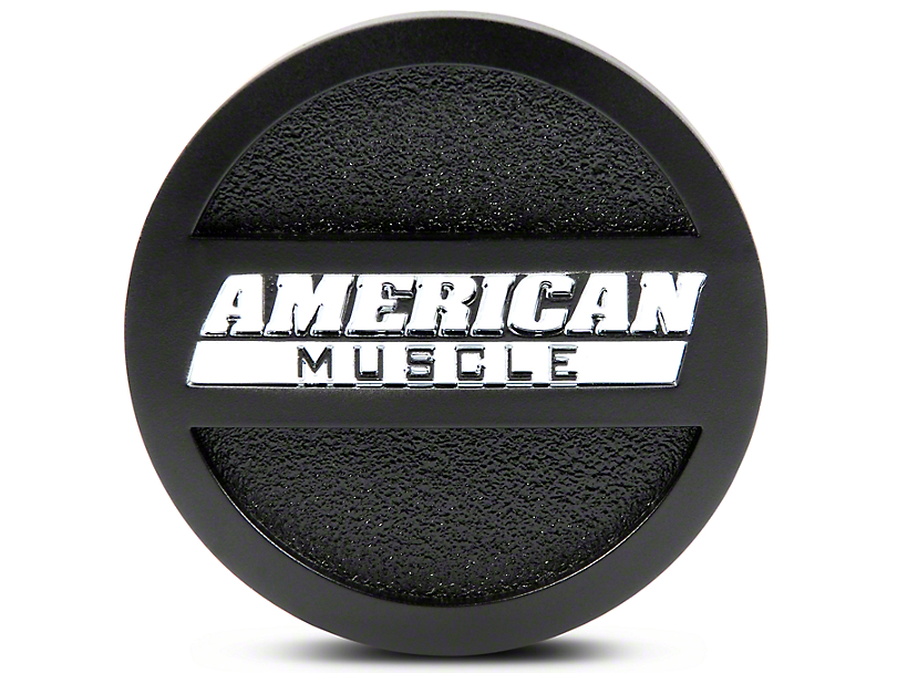 Matte Black AmericanMuscle Center Cap; Large