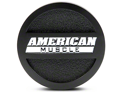 Matte Black AmericanMuscle Center Cap - Large