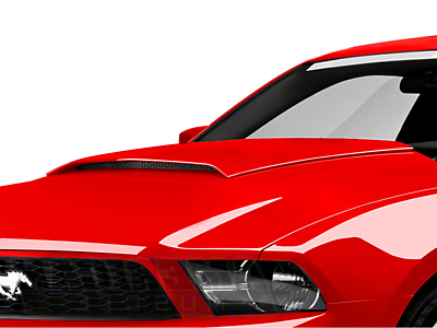 SpeedForm Pre-Painted Hood Scoop - Red Candy Metallic (10-12 GT, V6)