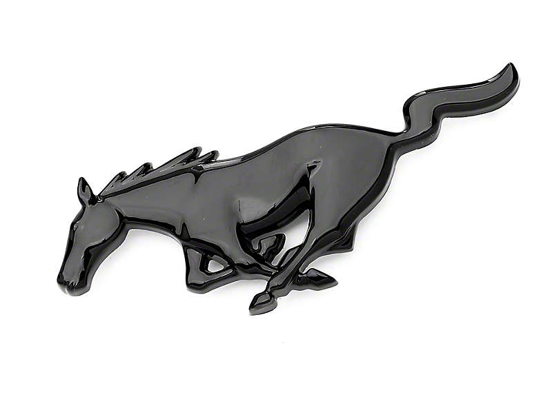 Running Pony Grille Emblem - Black (94-04 All)