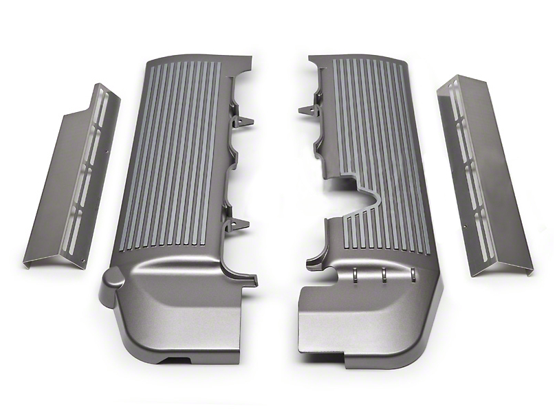 California Pony Cars Fuel Rail Covers - Titanium Silver (05-10 GT)