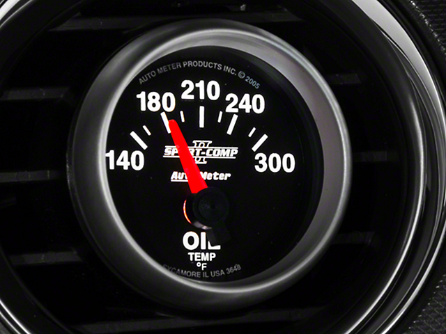 Auto Meter Sport Comp II Oil Temp Gauge - Electrical (79-21 All)