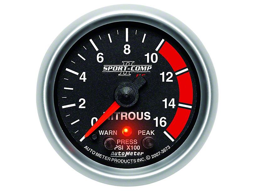 Auto Meter Sport Comp II Nitrous Pressure Gauge - Electric (79-17 All)