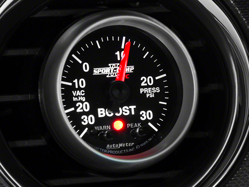 Auto Meter Sport Comp II Boost/Vac Gauge w/ Warning Light - Electrical (79-17 All)