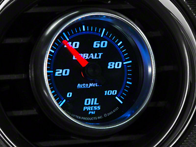 Auto Meter Cobalt Oil Pressure Gauge - Mechanical (79-17 All)