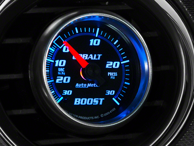 Auto Meter Cobalt 30 PSI Boost/Vac Gauge - Electrical (79-18 All)