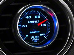 Auto Meter Cobalt Fuel Pressure Gauge; Electrical (Universal; Some Adaptation May Be Required)