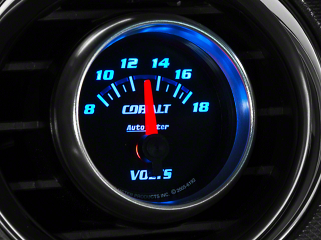 Auto Meter Cobalt Voltmeter Gauge - Electrical (79-19 All)