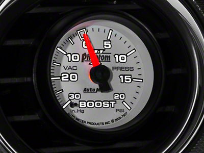 Auto Meter Phantom II 20 PSI Boost/Vac Gauge - Mechanical (79-18 All)