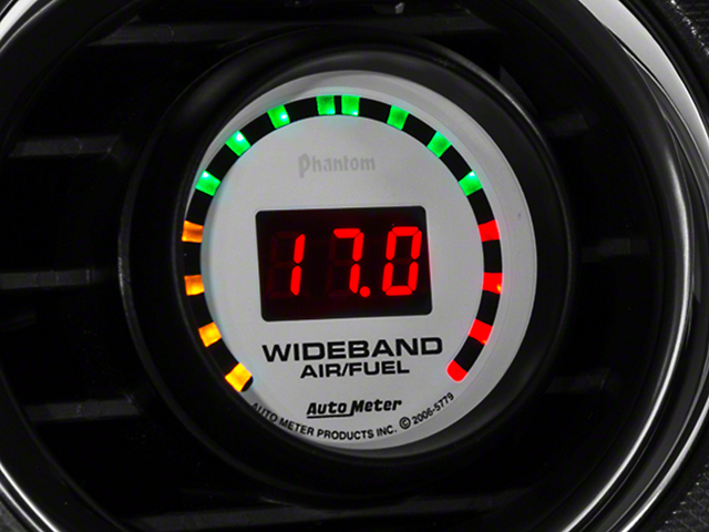 Auto Meter Phantom Wideband Air/Fuel Ratio Gauge - Digital (79-21 All)