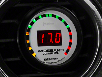 Auto Meter Phantom Wideband Air/Fuel Ratio Gauge - Digital (79-19 All)