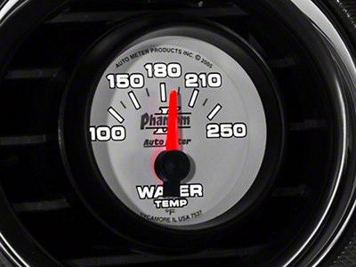 Auto Meter Phantom II Water Temp Gauge - Electric (79-17 All)