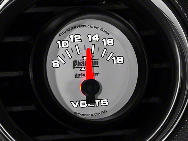 Auto Meter Phantom II Voltmeter Gauge - Electric (79-17 All)
