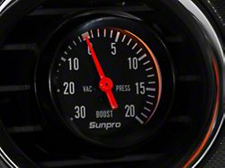Black Styleline Boost/Vacuum Gauge; Mechanical (Universal Fitment)