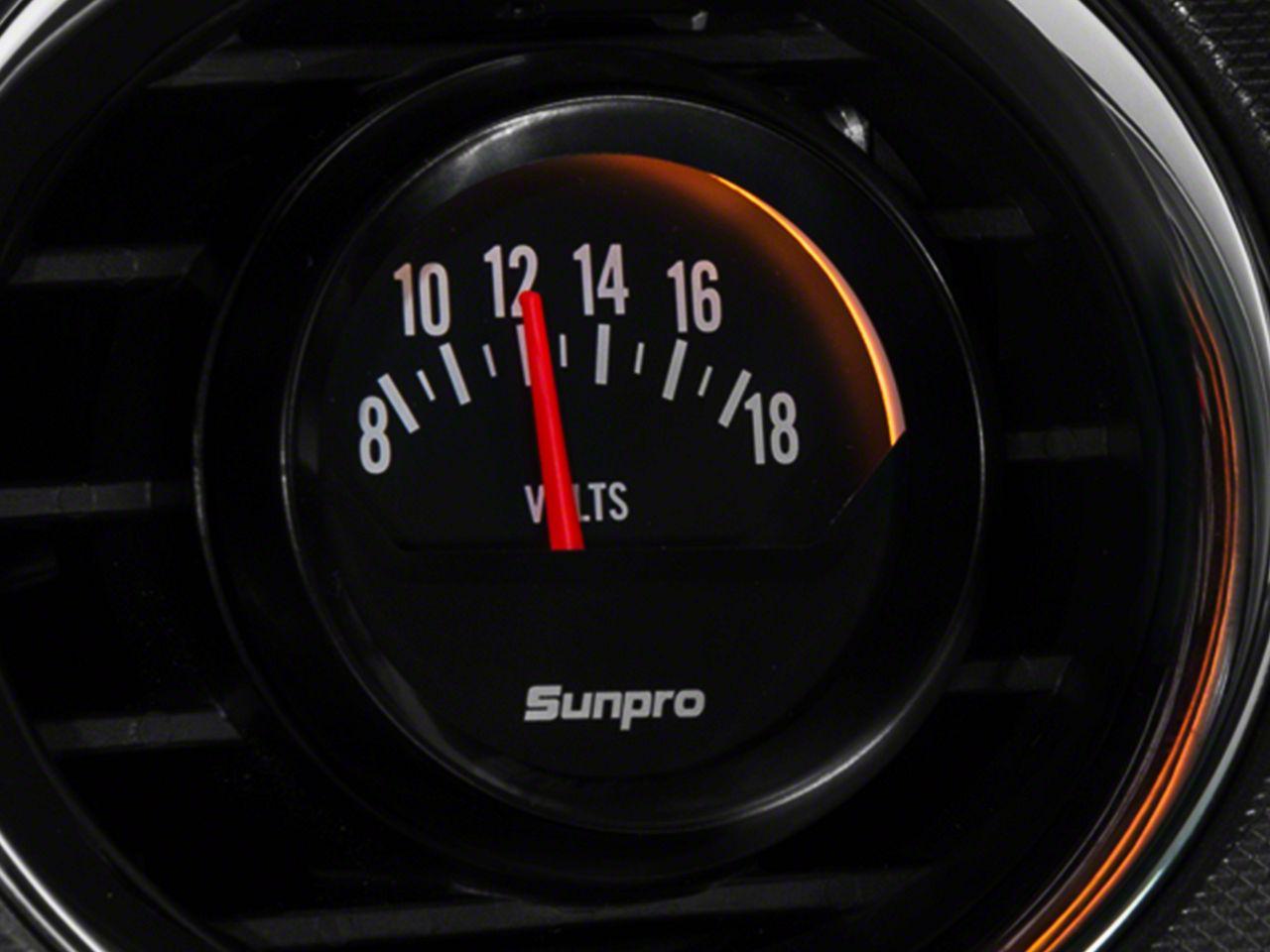 Bosch Black Styleline Voltmeter Gauge - Electrical (79-19 All)
