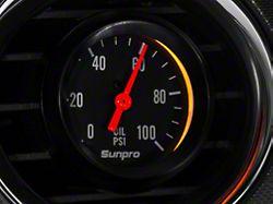 Bosch Black Styleline Oil Pressure Gauge; Mechanical (Universal Fitment)