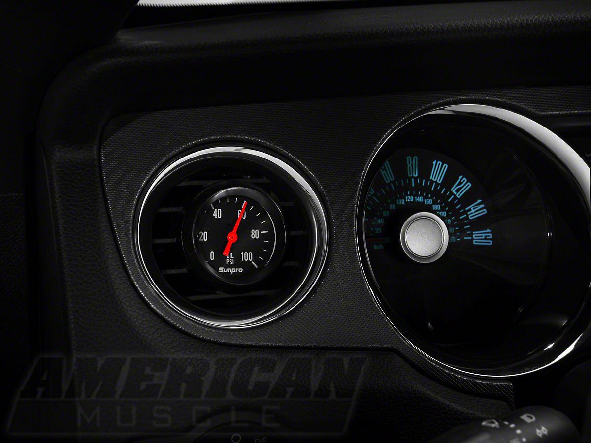 Bosch Mustang Black Styleline Oil Pressure Gauge