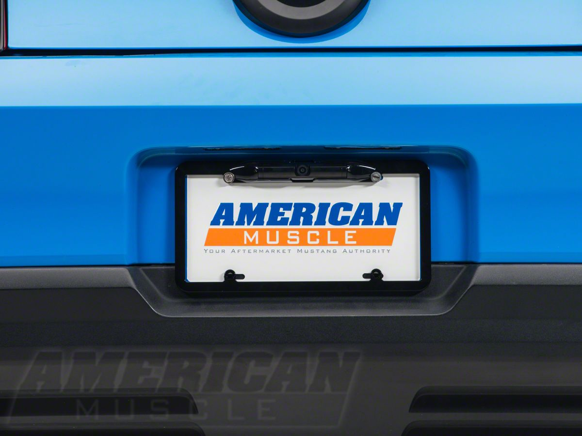 Speedform Mustang Rearview Back Up Camera License Plate Frame 13802 79 14 All Free Shipping