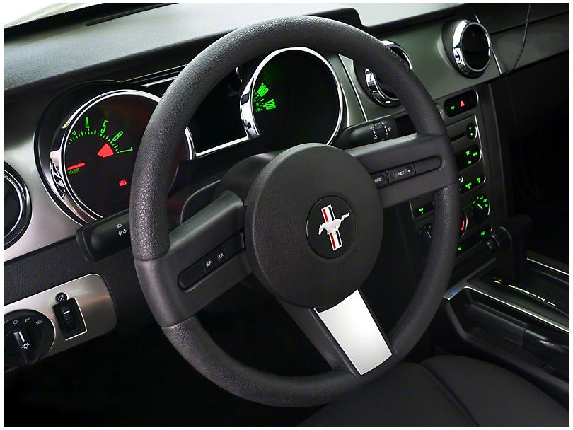 Modern Billet Chrome Steering Wheel Badge (05-09 All)