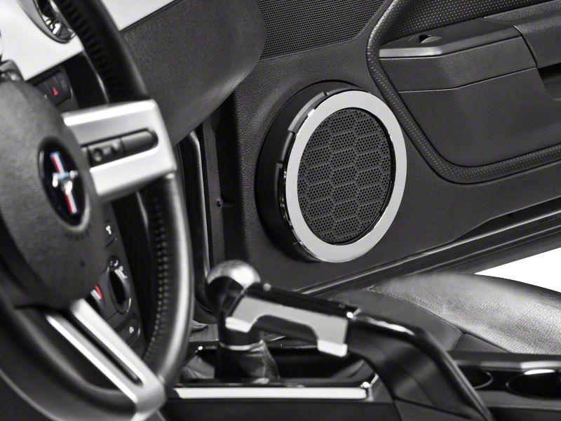Modern Billet Chrome Speaker Trim Rings (05-09 All)
