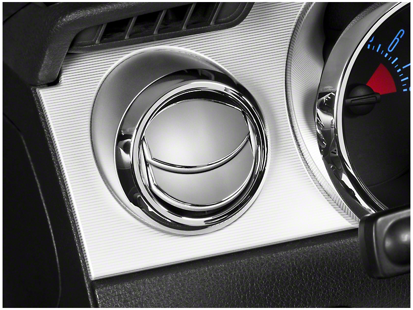 Modern Billet Mustang Chrome Air Vent Louver Covers 15525