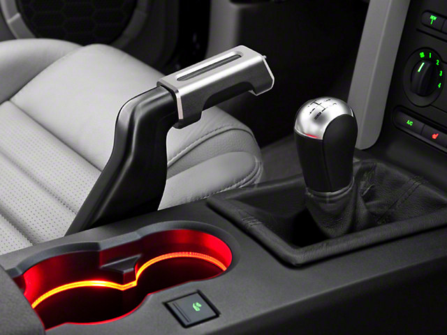 Modern Billet E-Brake Handle Cover; Satin (05-09 GT, V6)