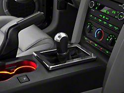 Modern Billet Shifter Bezel; Chrome (05-09 w/ Manual Transmission)