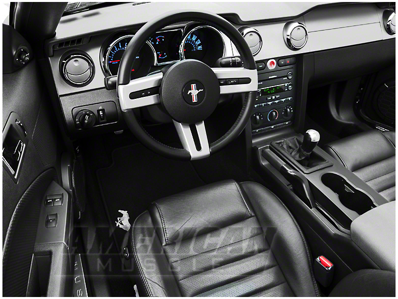 Modern Billet Mustang Chrome Billet Interior Complete Kit ...