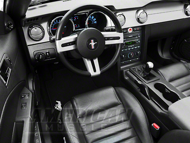 Modern Billet Billet Interior Complete Kit; Chrome (05-09 GT, V6 w/ Manual Transmission)