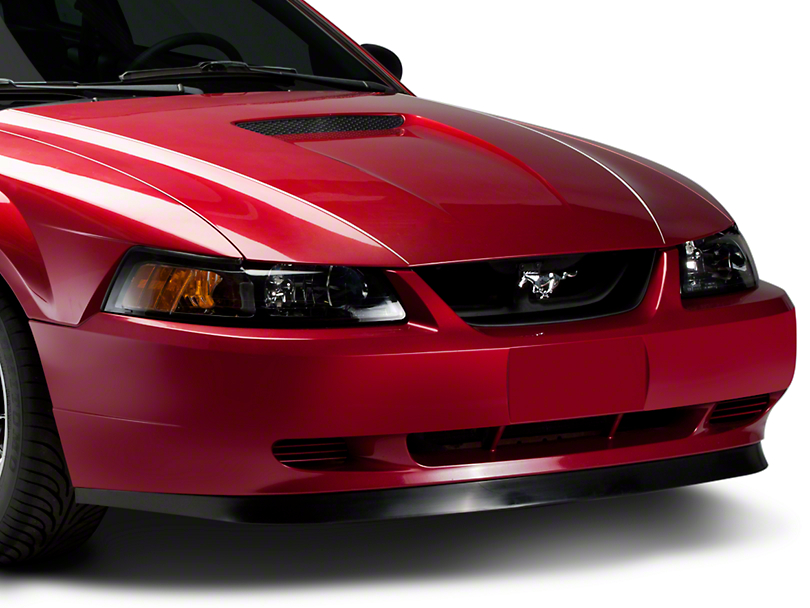 SpeedForm Mach 1 Grille Delete Kit with Pony Emblem; Chrome (99-04 GT, V6)