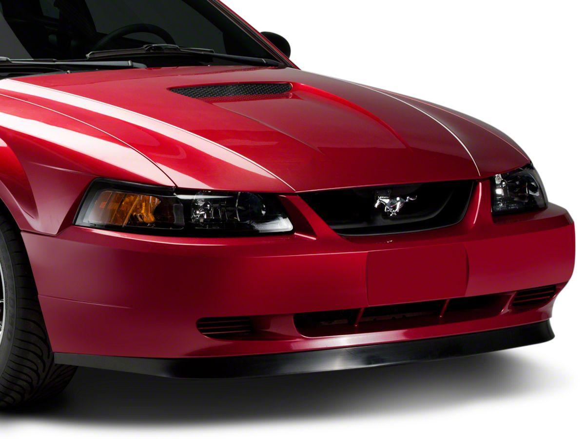 """1999-2004 Ford Mustang Mach 1 Front Grille Delete 2 Piece Kit w// 4/"""" Cobra Emblem"""