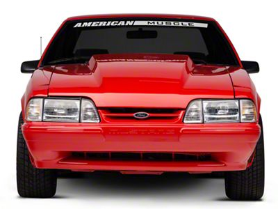 OPR Front Bumper Cover w/ Mustang Lettering - Unpainted (87-93 LX)