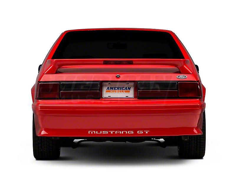 OPR Rear Bumper Cover w/ Mustang Lettering - Unpainted (87-93 GT)