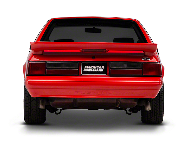 OPR Rear Bumper Cover with Mustang Lettering; Unpainted (87-93 LX)