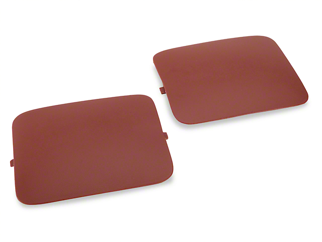 OPR Hatchback Shock Access Covers; Red (87-89 All)