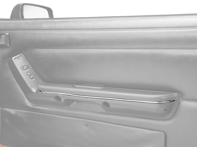 OPR Armrest Accent Trim; Chrome (87-93 All)