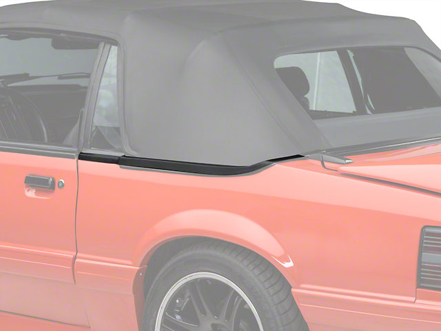 OPR Convertible Top Boot Well Molding; Left Side (83-86 Convertible)